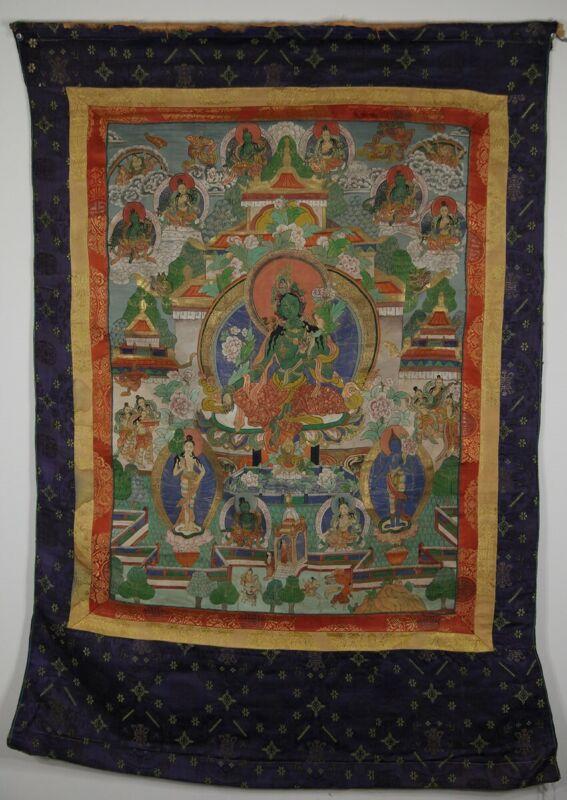 Large Antique Chinese/Tibetan Thangka (Thanka)