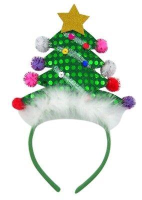 mit Stern Urlaub Party Stirnband Zubehör (Weihnachtsbaum Stirnband)