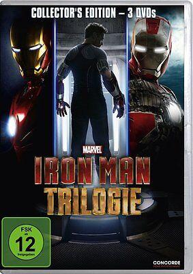 Iron Man Trilogie DVD Marvel Film Box Set Fantasy Robert Downey Jr  ()