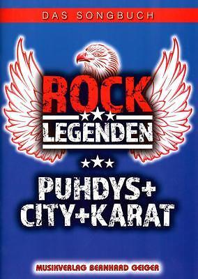 Rock Legenden - Puhdys City Karat - Songbuch - SB91 - 4260307720919