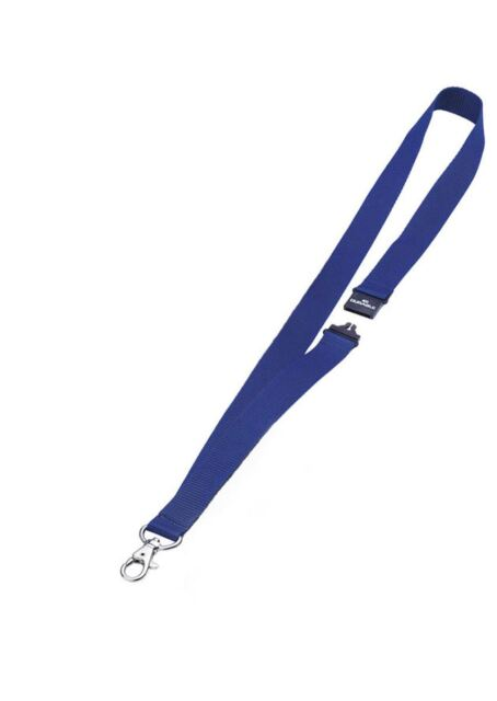 Durable 813707 20mm Textile Lanyard  with Safety Release - Dark Blue, PK10