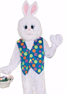 Easter Funny Bunny Costume Adult Deluxe Plush Furry Rabbit Mascot Cosplay - Fast