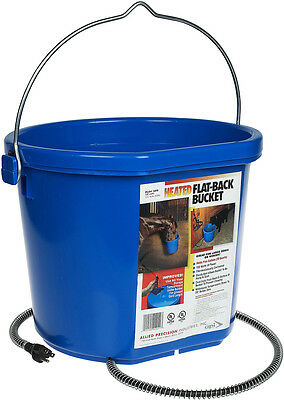 Allied Heated Water Bucket Heavy Duty Plastic 6ft Cord Keeps Ice Free 5 Gallon