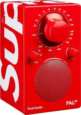 SUPREME x Tivoli Pal BT Speaker Red radio bluetooth box logo camp cap tnf S/S 18