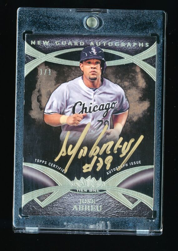 JOSE ABREU 2014 TOPPS TIER ONE GOLD INK AUTOGRAPH AUTO NEW GUARD RC #D 1/1 RARE