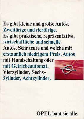 Opel Prospekt / Imageprospekt - Kadett - Rekord - KAD - 1965