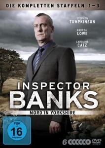 6 DVDs *  INSPECTOR BANKS - BOX - Staffel 1 - 3 # NEU OVP