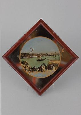 Souvenir de Dieppe Hinterglasansicht, um 1900