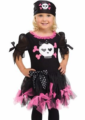 Sally Skully Pirate Costume for Toddler size 3T-4T by Fun World