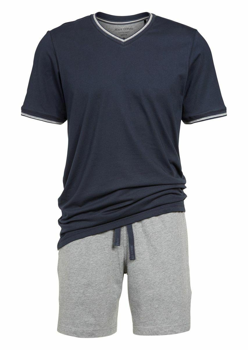 36dd792b4a Marc O`Polo Herren Schlafanzug, kurz, Pyjama, Shorty, V-Ausschnitt,  Baumwolle*
