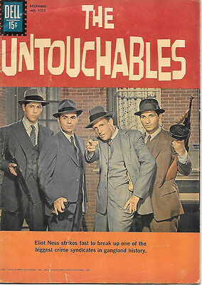 The Untouchables TV Series Four Color Comic Book #1237, Dell Comics 1961 VERY GD