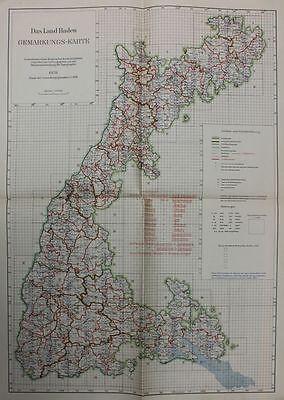 Das Land Baden Gemarkungs-Karte 1928   1:350 000