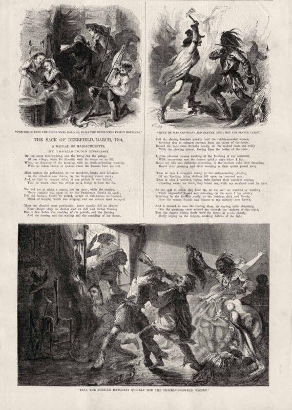 Sack of Deerfield Thomas Dunn English Queen Annes War Captives Scalping 1860