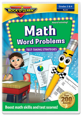 Math Word Problems DVD by Rock 'N Learn (New) (Math Word Problems Dvd)