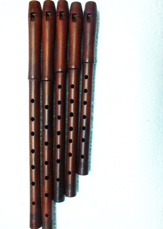 Turkish Good Quality  Plum Wood Dilli Kaval Tutek Shivi Flute (single)