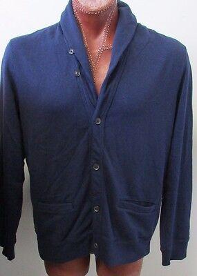 $165 NWT Polo Ralph Lauren Cardigan Jumper Sweater Dark Blue Size M