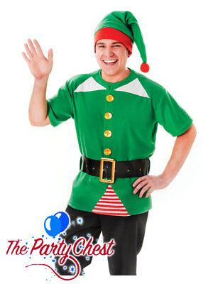 ADULT UNISEX JOLLY ELF COSTUME Santa's Helper Christmas Fancy Dress Outfit AC648 ()