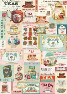 Cavallini Vintage Tea Wrapping Paper