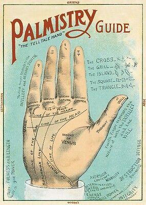 Palmistry - Palm reading  Poster Cavallini & Co 20 x 28 Wrap