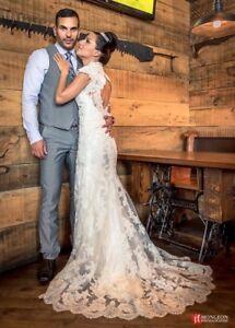 Robe de mariée en dentelle/lace wedding dress