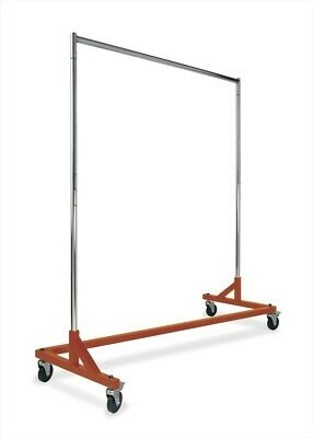 Single-rail Z Based Clothing Rack With Caster Wheels - Osha Orange