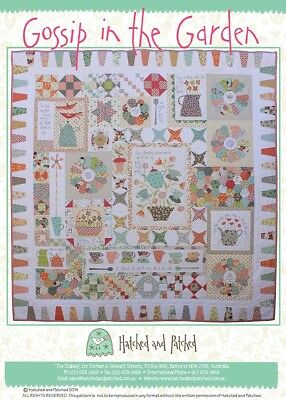 Quilts In The Garden (Gossip In The Garden Applique Quilt Pattern by Hatched and)