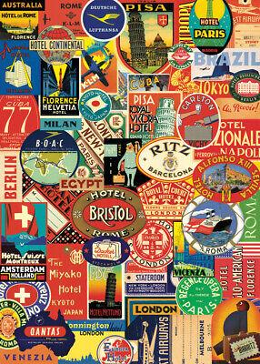 Cavallini & Co. Bon Voyage Decorative Paper Sheet / Poster / Wrap