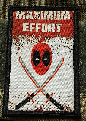 Deadpool Maximum Effort Morale Patch Mercenaries Tactical Military Army Flag USA