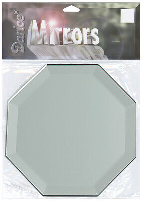 Darice Octagon Glass Mirror With Bevel Edge 4 Inches