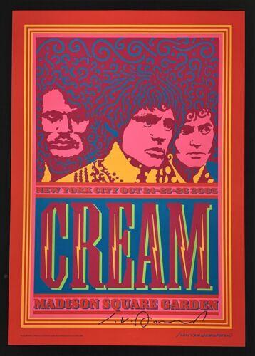 Cream POSTER Madison Square Garden Signed John Van Hamersveld New York City 2005