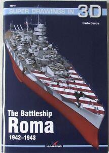 The Italian Battleship ROMA 1942-1943 - Super Drawings in 3D - Kagero ENGLISH - <span itemprop=availableAtOrFrom>Reda, Polska</span> - Zwroty są przyjmowane - Reda, Polska