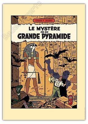 Affiche Jacobs Blake et Mortimer Le mystère de la Grande Pyramide 50x70 cm