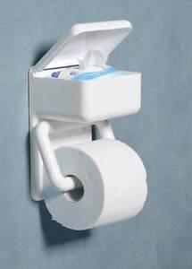 WC-Papierhalter mit Feuchtpapierbox Feuchttuch Box Wenko