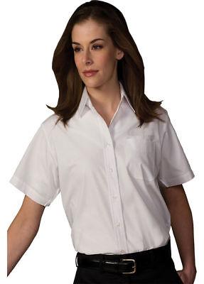 Edwards Garment Women's Short Sleeve Button Down Broadcloth Dress Shirt. 5313 - Edwards Short Sleeve Blouse