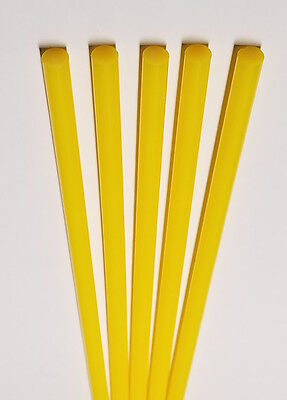 5 Opaque Yellow 38 Diameter Clear 12 Inch Long Acrylic Plexiglass Lucite Rod