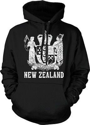 New Zealand Coat of Arms Aotearoa Polynesian Auckland Wellington Hoodie (New Zealand Coat Of Arms)