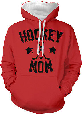 Hockey Mom Parent Mother Mommy Child Kid Sticks Puck Two Tone Hoodie Sweatshirt
