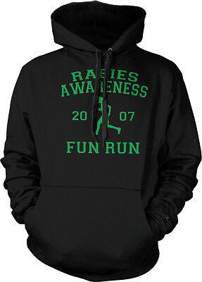 Rabies Awareness Fun Run Michael Scott The Office 5K Hoodie Pullover (Awareness Sweatshirt)