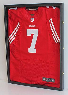 LOCKABLE UV Protect Jersey Display Case Frame Box  Football Basketball JC01-BL