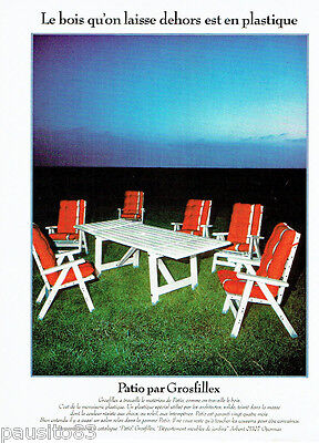 PUBLICITE ADVERTISING 036 1978  les meubles de jardin Grosfillex Patio
