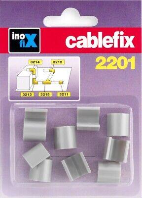 Cable Organizador Abrazadera 8x7mm Uniones Soporte Management Plata inofiX 10pcs