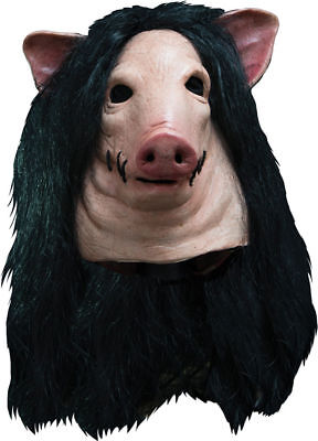 Saw The Movie Gruesome Bloody Pig Severed Head Full Latex Mask Costume. MA1039](Pig Saw Mask)