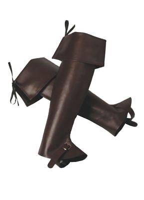 THE - Kostüm Zubehör Musketier Stiefelstulpen - Halloween Stiefelstulpen
