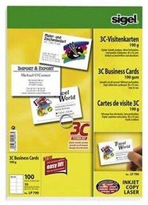 100 Sigel 3C Visitenkarten 190g weiß LP 790