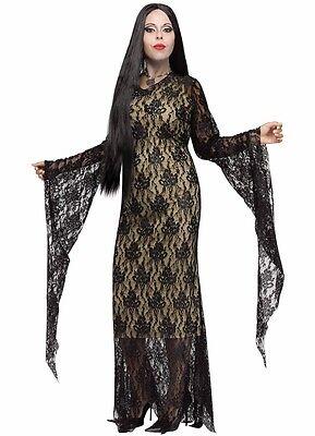 Morticia Addams Costume Dress Adams Family Vampire Miss Darkness - Plus Size XL - Vampire Costume Plus Size