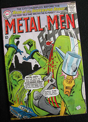 METAL MEN 13 (1965) 1ST APPEARANCE OF NAMELESS! VG/FN! LOTS OF LARGE PHOTOS!