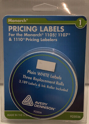 Monarch Pricing Labels For Model 110511071110 1- Line White 1-ink Roller
