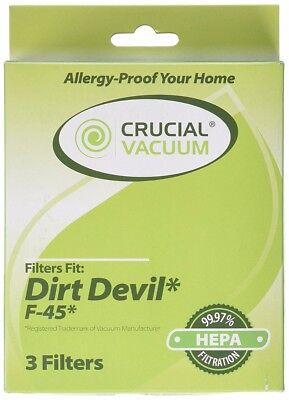 - Replacement Dirt Devil F45 HEPA Canister Filter, Foam Filter & Exhaust Filter
