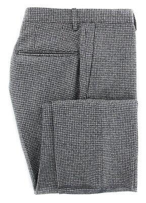 New Incotex Dark Gray Micro-Houndstooth Pants - Slim - (IN1113176)