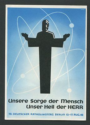 BERLIN FDC 179/80 KIRCHENTAG 1958 DEKORATIVE SONDERKARTE ERSTTAG! a9851